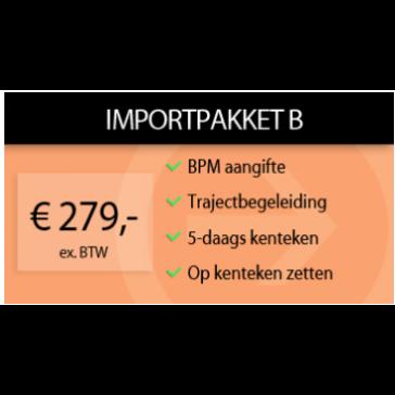 Importpakket B + 5-daags kenteken (Kurzzeitkennzeichen)