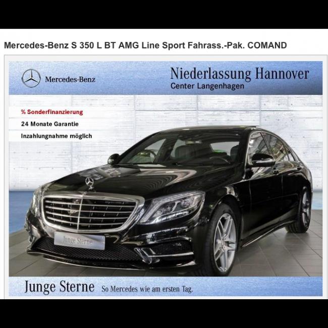 Duitse mercedes benz s 350 l bt amg line sport 2015 importeren for Mercedes benz product line