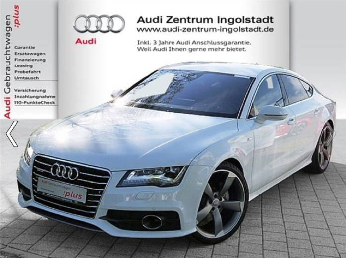 Import auto Audi A7 3.0 TDI S-Line