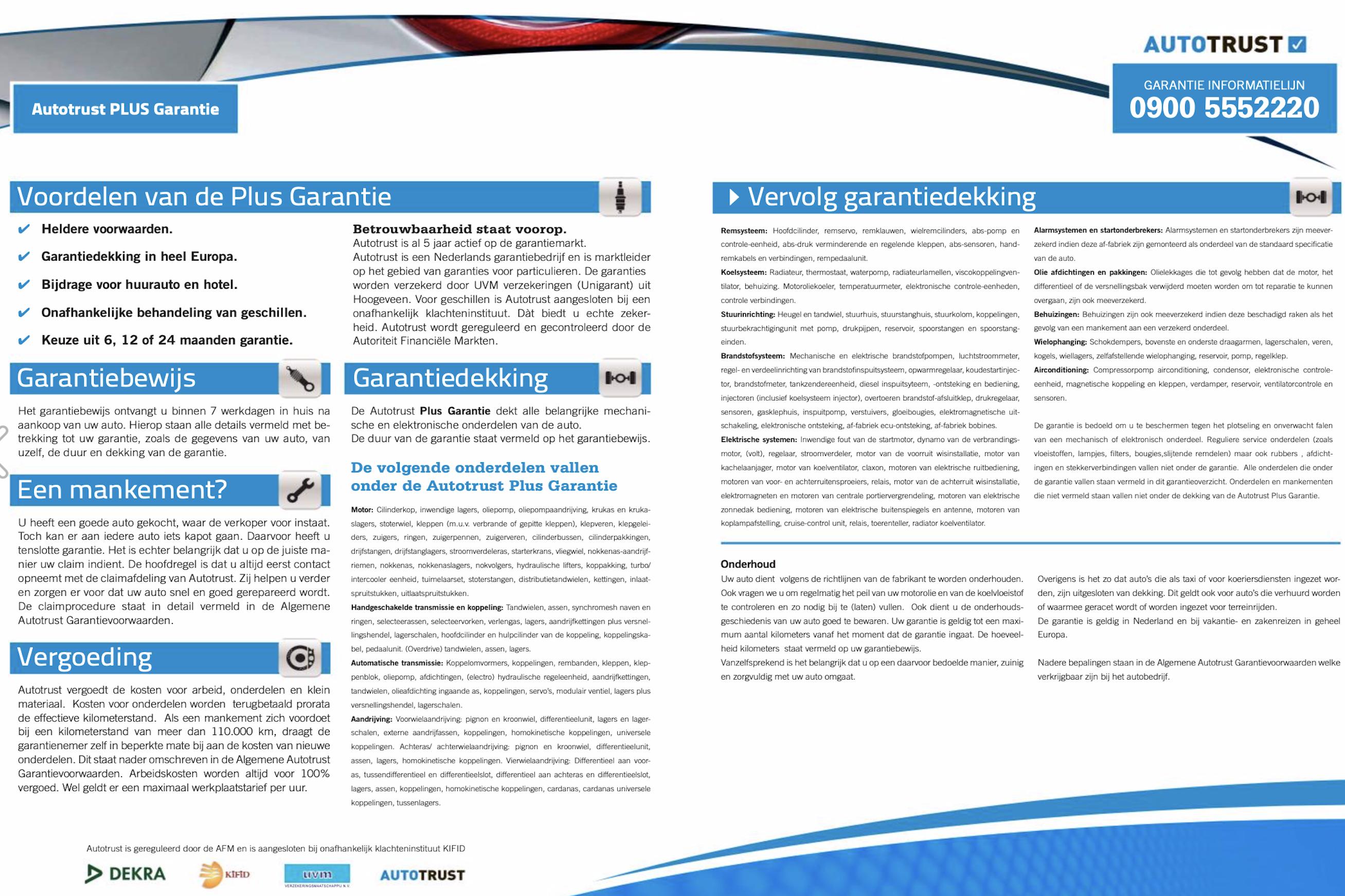 Autotrust Garantie Pluspakket-details